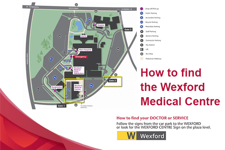 Map for the Wexford Centre on Murdoch Campus